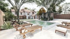 Texas Yards That Will Inspire Your Next Lone Star Landscaping Project — Yardzen Small Backyard Patio, Backyard Sheds, Backyard Patio Designs, Modern Backyard, Online Landscape Design, Landscape Design Small, Lausanne, Landscaping Ideas, Small Backyards