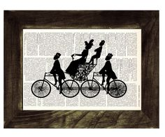 Vintage Bike Book Print Dictionary or Encyclopedia Page by PRRINT. $6.99, via Etsy.