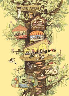 """""""Emily Hughes"""" A little owl book company in a tree"""