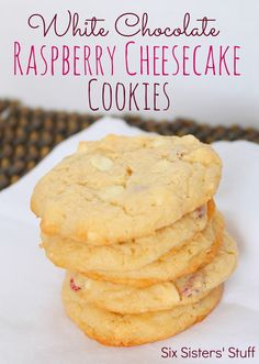White Chocolate Raspberry Cheesecake Cookies Recipe  on MyRecipeMagic.com