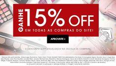 Compre no site da Sephora acima de R$199 e ganhe na hora desconto de 15%.