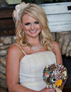 The retro birdcage veil has come back in a big way. Country star Miranda Lambert wore a mini one with soft, tousled waves for her wedding to Blake Shelton.  - GoodHousekeeping.com
