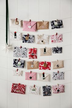 Handmade envelopes make marvellous Christmas advent calendars. Pop treats or greetings inside, or build excitement with clues to the location of gifts. Photography: Chris Warnes | Story: Australian House & Garden