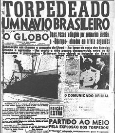 1942: GERMAN SUBMARINE SINKS BRAZILIAN SHIP