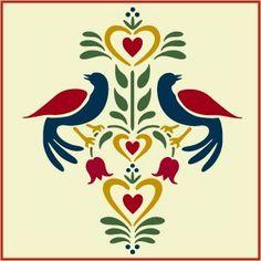 Folkart Birds 2