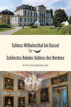 Das Schloss Wilhelmsthal ist die kleine Schwester des Schlosses Wilhelmshöhe. Es ist ein wunderschönes Schloss im Grünen, unweit von Kassel und es soll das schönste Rokoko-Schloss Norddeutschlands. Auf jeden Fall ist das Schloss Wilhelmsthal eine der schönsten Sehenswürdigkeiten in Nordhessen. #nordhessen #hessen #kassel #calden #schloss #rokoko Hotels, Mansions, House Styles, Travel, Home Decor, Ghost Stories, Mountain Park, Neuschwanstein Castle, Viajes