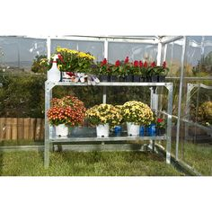 Found it at Wayfair - 2 Level Greenhouse Potting Bench