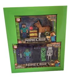 Amazon.com: Minecraft Series #2 Gift Pack - Overworld Steve, Horse and Complete Hostile Mobs Pack: Toys & Games