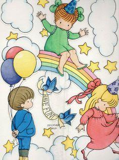 Hallmark RAINBOW BIRTHDAY PARTY Paper Centerpiece Decoration JOAN WALSH ANGLUND