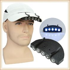 Clip-On-5-LED-Head-Cap-Hat-Light-Torch-Head-Lamp-Fishing-Camping-Hunting-Outdoor
