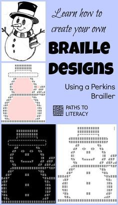 Learn how to create your own braille designs using a Perkins brailler!