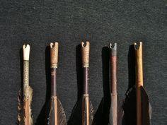 Various nocks of Manchu arrows. Peter Dekker's collection.