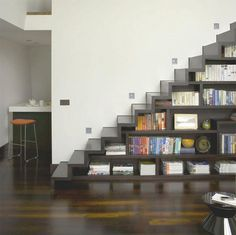 Bookshelf: staircase