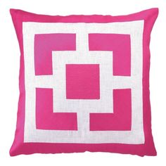 Palm Springs Blocks Pillow from the Trina Turk sale at Joss & Main. Gorgeous pink!