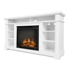 Electric Fireplace Entertainment Center, Media Electric Fireplace, Entertainment Center Decor, Entertainment Fireplace, Electric Fireplaces, Fireplace Mantels, Fireplace Ideas, Stone Fireplaces, White Fireplace