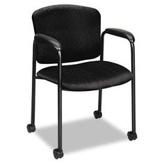 NEW - Tiempo Guest Arm Chair with Casters, Black - 4615NT10T by Hon. $221.47. ?Memory foam? in seat cushion responds to body dynamics to deliver comfort. Waterfall edge maximizes leg support. Lumbar support reduces back fatigue. Upholstery contains stain-resistant protection to maintain a clean appearance. Fabric features Nano-Tex? for superior stain resistance. Recommended Applications: Guest, Reception, Waiting Room & Lounge; General Office & Task; Seat/Back...