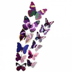 DIY Butterfly Wall Decor Stickers for Living Room Bedroom Office Decorations - Purple - & Garden, Home Decor, Wall Stickers # # Wall Stickers Wallpaper, Cheap Wall Stickers, Wall Decor Stickers, 3d Wallpaper, 3d Butterfly Wall Decor, Cheap Bathroom Accessories, Living Room Bedroom, Bedroom Office, Cleaning Walls