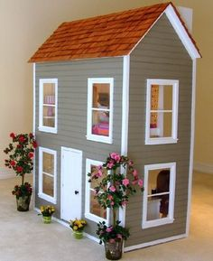 Amazing American Girl Doll House .... I wish I had owned one of these for my dolls!