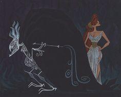 "Concept art for Disney's ""Hercules"" (1997)."
