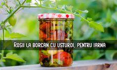 Roșii la borcan cu usturoi, pentru iarnă – LaTAIFAS Ketchup, Shot Glass, Tableware, Mai, Dinnerware, Dishes