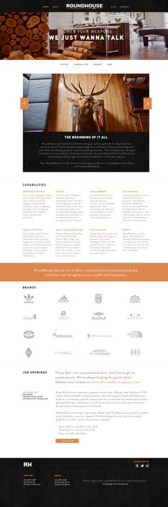 Roundhouse Agency Website by Ryan Mendes, via Behance http://www.techirsh.com