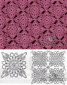 Transcendent Crochet a Solid Granny Square Ideas. Inconceivable Crochet a Solid Granny Square Ideas. Crochet Motif Patterns, Granny Square Crochet Pattern, Crochet Diagram, Crochet Chart, Crochet Squares, Thread Crochet, Crochet Designs, Crochet Lace, Knitting Patterns