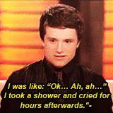 Hahaha Josh during his interview on Lopez Tonight.