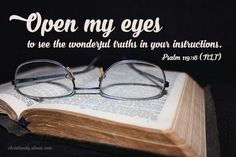 Open My Eyes - Psalm 119:18 - Verse of the Day