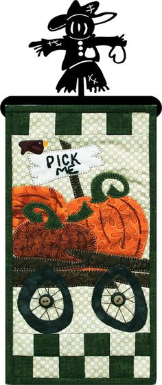 Pick Me Patch Abilities Pattern - Fall Decor- Quilting- Applique - Easy quilting project- small quilt pattern - mini quilt pattern - beginner friendly quilt pattern Hand Quilting Patterns, Mini Quilt Patterns, Hanging Quilts, Quilted Wall Hangings, Quilting Room, Quilting Projects, Modern Quilting Designs, Charm Pack Quilts, Crazy Quilt Stitches