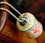 floral paisley - recycled wine cork necklace