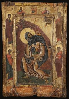 Prophet Elijah from a two-sided icon dated to the late 12th century. The reverse side is decorated with an image of St. John the Theologian. Image courtesy of the Byzantine Museum, Kastoria