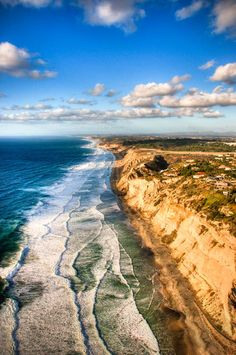 Black's Beach is a secluded section of beach beneath the bluffs of Torrey Pines in La Jolla, San Diego, California. It is officially part of Torrey Pines State Beach.   by Travis Burke