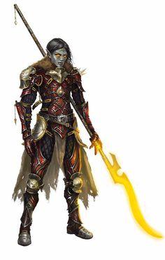Panelliar, Undead Elf Solarian - Starfinder RPG (Dead Suns 2 art)