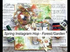 """Mixed Media Canvas """"FLY"""" - Spring Instagram Hop (Forest/Garden) #30 - YouTube"""