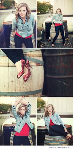 I'm all about the attitude in top left! #senior #portrait #photography
