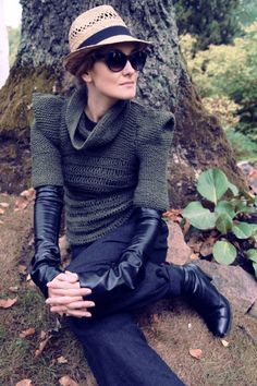 Military green awesome sweater