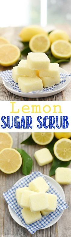 DIY Lemon Sugar Scrub Cubes - revitalize skin and replenish moisture with this easy DIY sugar scrub cube recipe. They also make great handmade gift ideas!
