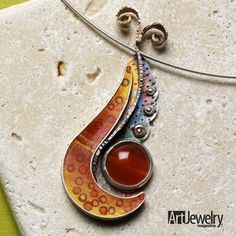 Metal: Learn How to Use Cement in Jewelry Design.  Find more projects on ArtJewelryMag.com