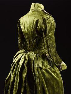 Silk Velvet Afternoon Dress, ca. 1885-88 Gowan and Strachan
