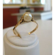 Anillo en oro con perla de cultivo 6mm