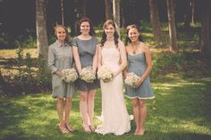 chambray bridesmaid dresses Betty Donne Photography