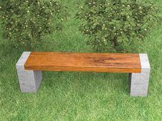 Cement garden furniture benches for sale concrete bench molds cemen. Outdoor Projects, Garden Projects, Outdoor Decor, Outdoor Ideas, Banco Exterior, Concrete Bench, Diy Concrete, Concrete Blocks, Concrete Garden
