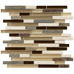 Tessera Piano Nassau 11-3/4 in. x 11-3/4 in. Stone  Glass Mosaic Wall Tile-GDMTPNN at The Home Depot