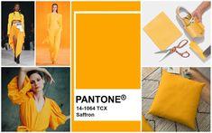 Bạn đã sẵn sàng để khám phá sắc vàng saffron, một trong những gam màu nóng được chào đón nhiệt tình khi trở lại với sàn diễn Thu – Đông 2020? #saffron #style Elle Fashion, Laura Ashley, Carolina Herrera, Pantone, Monochrome, Palette, Spring Summer, Inspiration, Oscar De La Renta