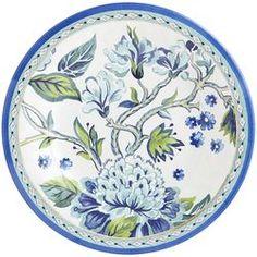 "Salad plate: 8.50""Dia x 1.90""H  Classic Garden Melamine Salad Plate"