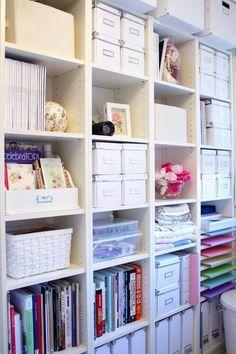 caixa organizadora estante branca