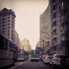Avenida São João, área central da capital paulistana.