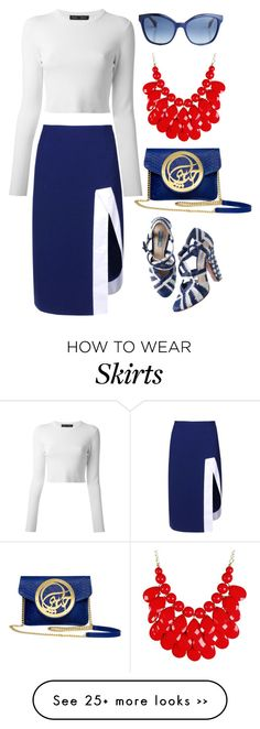 """""""J.W.Anderson Knee Length Skirt"""" by thestyleartisan on Polyvore"""