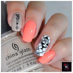 Neon + Geometric - %%type%% %%cat%% par Love Nails Etc