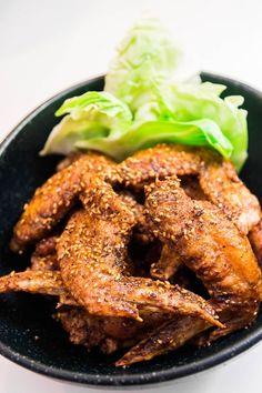 Tebasaki (Japanese Fried Chicken)  Tebasaki. Crispy Japanese fried chicken wings glazed with a sweet and garlicky glaze. The secrets to making Nagoya-style Tebasaki (手羽先).